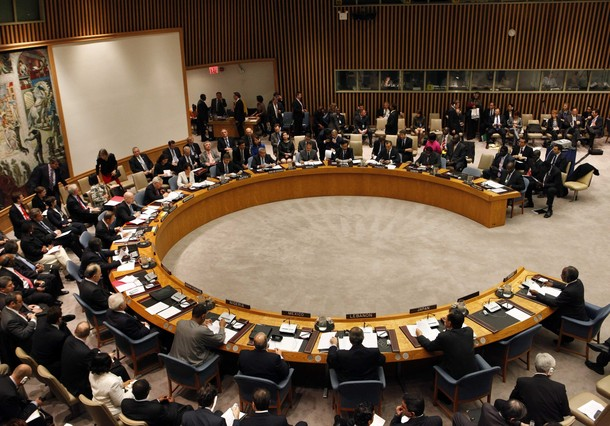 The United Nations Security Council is convened with British Foreign Secretary William Hague as chair at U.N. headquarters in New York, November 16, 2010. REUTERS/Brendan McDermid (UNITED STATES - Tags: POLITICS)