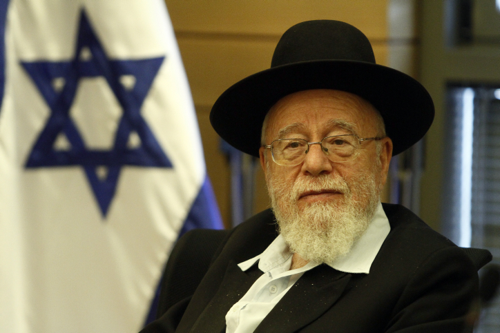 Rabbi Dov Lior, Chief Rabbi of Hebron and Kiryat Arba, at a meeting of Jewish settlers from the West Bank together with spiritual and political leaders attend a meeting in the Israeli parliament,  in preparation for events which might follow the vote on the Palestinians state in the United Nations later this month. September 07, 2011. Photo by Uri Lenz/FLASH90 *** Local Caption *** ëðñú