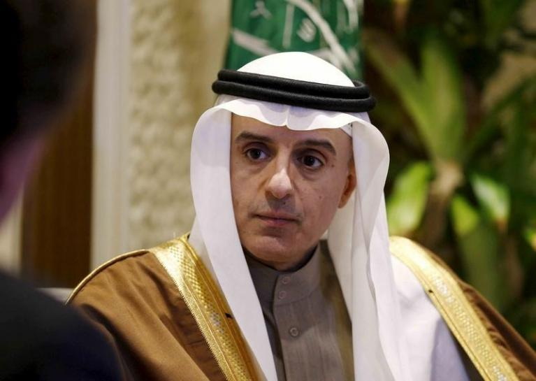 Saudi Arabia's Foreign Minister Adel al-Jubeir attends an interview with Reuters, in Riyadh, Saudi Arabia January 4, 2016. REUTERS/Faisal Al Nasser/File photo - RTSG26B
