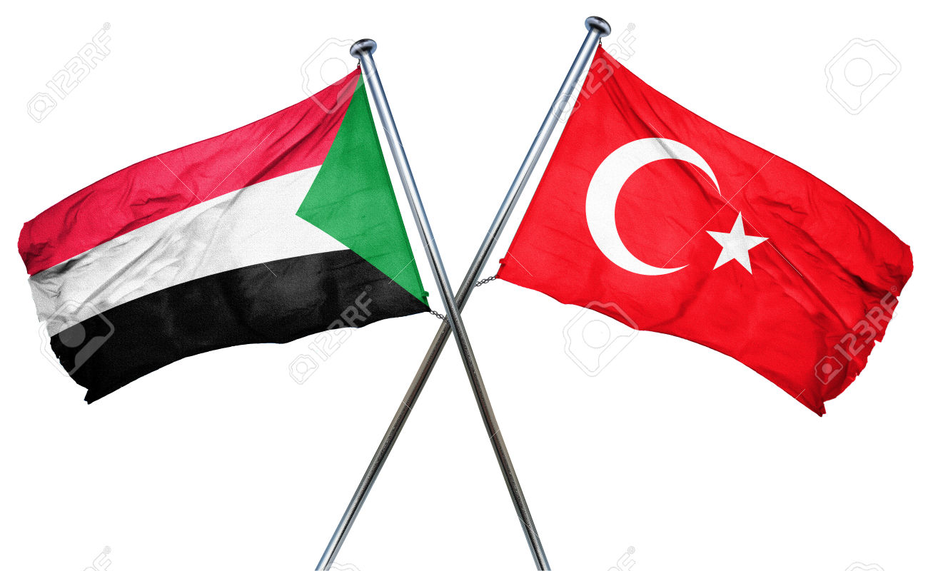 Sudan flag combined with turkey flag