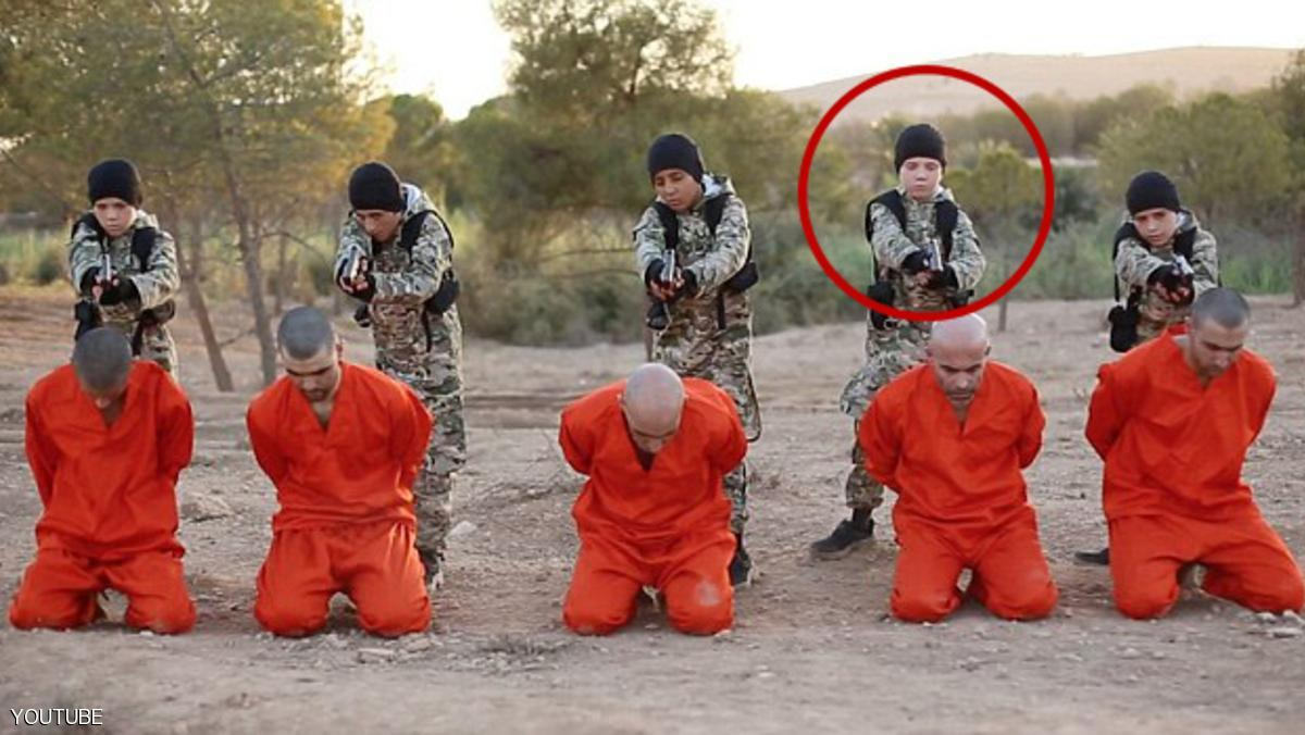 "@Raqqa_SL - 18 hours ago #Raqqa new #ISIS propaganda video Make 5 children "" 1 from UK"" Execute 5 men #Syria #ISIL TWitter picture showing ISIS execution a group of children executing 5 prisoners. One of which is a white child executioner with jihadi fighter name 'Abu Abdullah Al-Britani'"