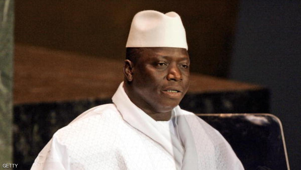 UNITED NATIONS, UNITED NATIONS:  (FILES) President Al Hadji Yahya Jammeh of Gambia addresses the 2005 World Summit 15 September, 2005 during the 60th session of the General Assembly at the United Nations. The chief of staff of the Gambian army,  lieutenant-colonel Mbure Cham, implicated in a coup plot to oust President Yahya Jammeh, has been arrested, police and military sources said 22 March 2006. No details of arrests of other would-be putschists in the tiny west African country sandwiched by Senegal, were immediately available.    AFP PHOTO FILES / JEFF HAYNES  (Photo credit should read JEFF HAYNES/AFP/Getty Images)