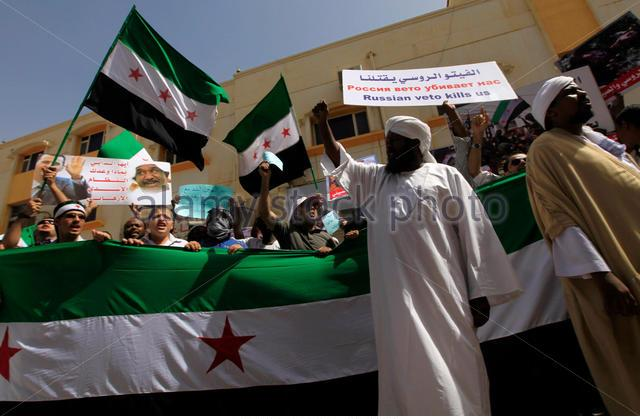 sudanese-and-syrians-take-part-in-a-protest-outside-the-syrian-embassy-gfy0dy