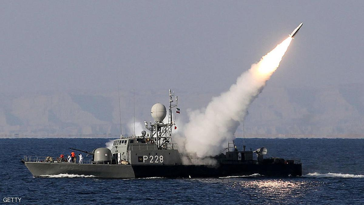 "Iranian navy fires a Mehrab missile during the ""Velayat-90"" naval wargames in the Strait of Hormuz in southern Iran on January 1, 2012. Iran defiantly announced that it had tested a new missile and made an advance in its nuclear programme after the United States unleashed extra sanctions that sent its currency to a record low. AFP PHOTO/JAMEJAMONLINE/EBRAHIM NOROOZI (Photo credit should read EBRAHIM NOROOZI/AFP/Getty Images)"